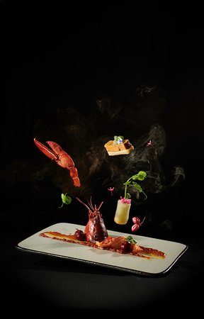 Grilled Lobster and Foie Gras with Snow Fish Curry Sauce