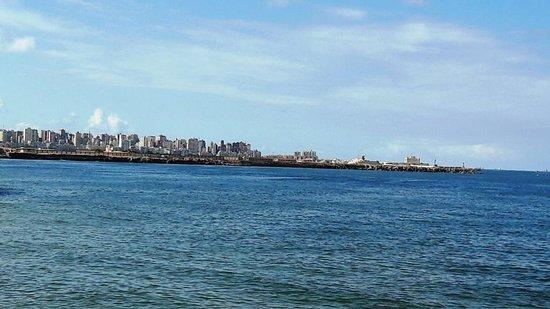 Alexandria, Egyiptom: Sea & sky line from Cornice