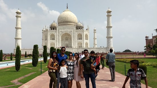 Our Guest From Gujarat at the Taj Mahal Agra