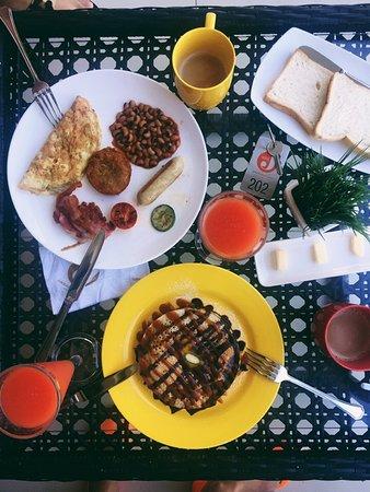 Hotel J Ambalangoda: Наш завтрак, голодными не остались)