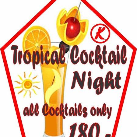 K - Sports Club: Tropical Cocktail Night !