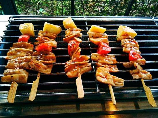 Lampang Province, Tailandia: Vegan BBQ.