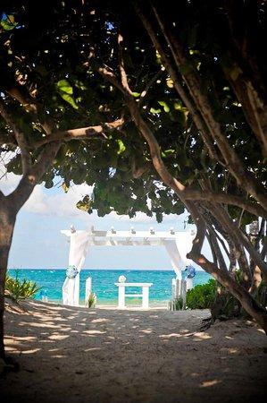Local de entrada da noiva e dos convidados, nos casamento realizados no resort.