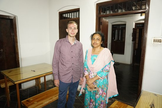 Snehadhara Homestay: The host and me