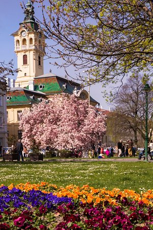 The City Hall from the Széchenyi Square  Picture: Balázs Papdi