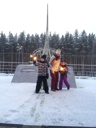 Our small travelers celebrating X-mas on The Border of Europe - Asia!