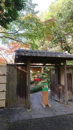 Tea House Omean: 四季折々の庭園を眺めながら、お抹茶と季節の和菓子(300円)を頂くことができます。平日の昼間に訪れましたが空いていたのでゆっくり寛ぐ事ができました。北駐車場(30台)からすぐの場所にあります。紅葉が綺麗でした。