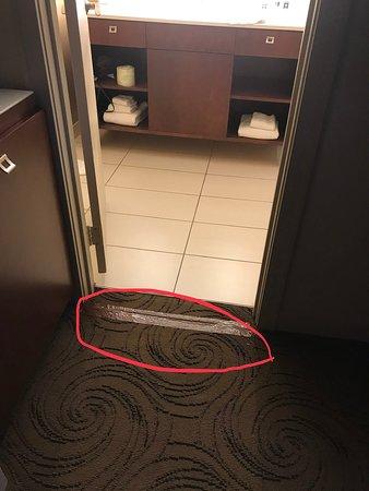 Royal Sonesta Chicago Riverfront: Duct tape on the carpet.