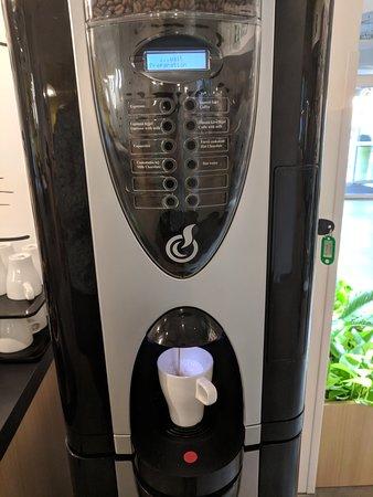 Coffee machine, the cappucino was very good