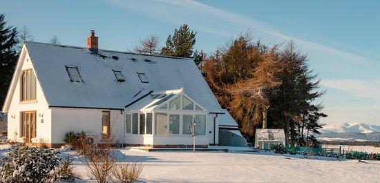 Snowy days at Firth View - you're always assured of a warm welcome whatever the weather
