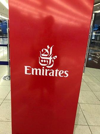 emirates at Dubai airport