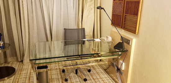 the desk in the room