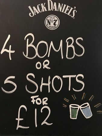 The Lion: Our shot deals which are available every night of the week but perfect for a Friday and Saturday night with our resident DJ