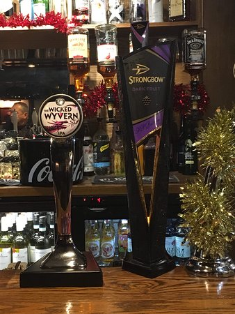 Our newest additions to The Lion we have our draft IPA Wicked Wyvern and a pub favourite cider Strongbow Darkfriuts.