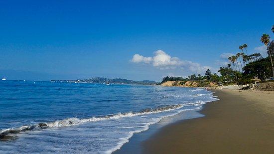 Taking a stroll on the beach in Santa Barbara, CA