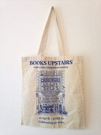Books Upstairs: Tote bag celebrating 40 years