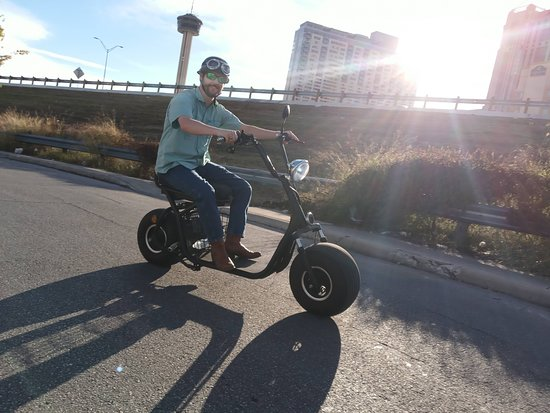 Easy and fun to ride! If you can ride a bicycle you can definitely ride our electric minibikes. No license needed.