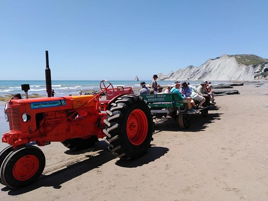 Gannet Beach Adventures - more fun than you ever imagined!: tractor ride
