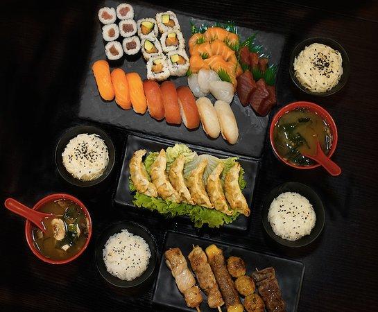 Entrées chauds, Yakitori, Sushi, Califonia, Maki, Gunkan,Sashimi