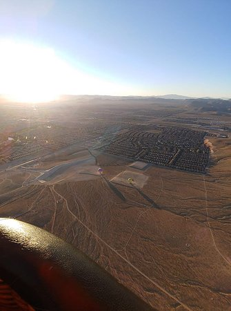 Las Vegas Hot Air Balloon Ride: this is about 1/2 hr into ride...so peaceful