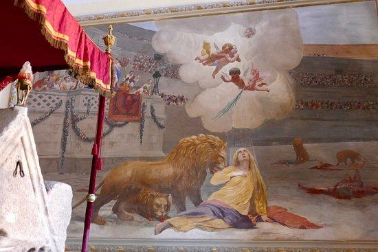 Rovinj, Croatia: Painting depicting the martyrdom of St. Euphemia