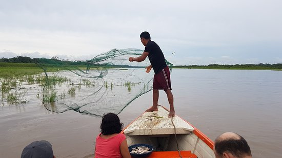 Amazon River: A local fisherman that joined us for  short time