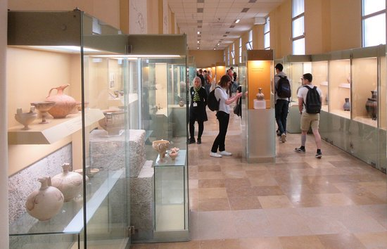 Inside the ground floor of the Museum of the Ancient Agora.