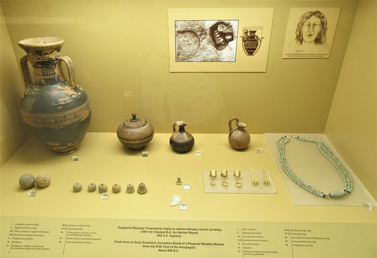 A display on the ground floor of the Museum of the Ancient Agora.