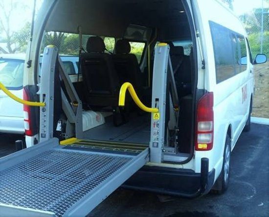 Mandurah, Austrálie: Wheelchair Access Taxi, catering for those elderly passengers and passengers with special needs who ride with us.