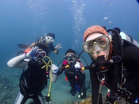 Ginowan, Nhật Bản: みんなで水中写真だよ