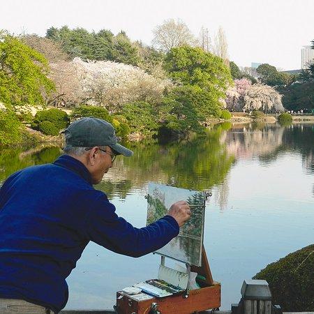 Shinjuku Gyoen National Garden last March 2018