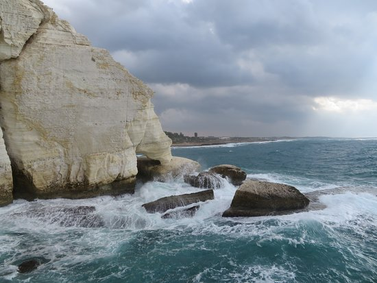 Mediterranean Sea and the majestic cliff
