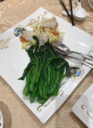 Crown Princess Fine Dining: Garoupa with Chinese Green