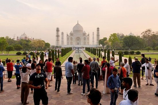 Samme dag Taj Mahal Agra tur med bil