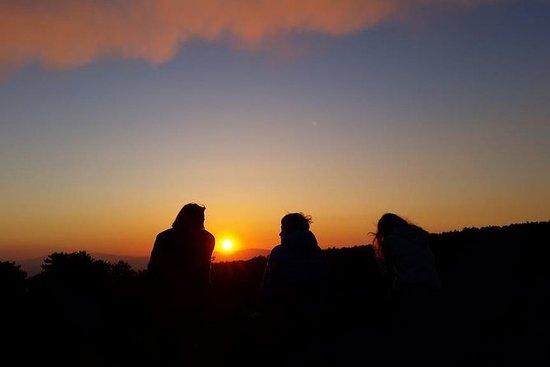 L'Etna au coucher du soleil