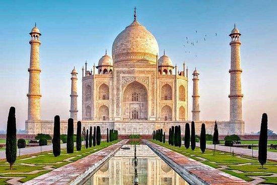 Taj Mahal privado ao nascer do sol de...