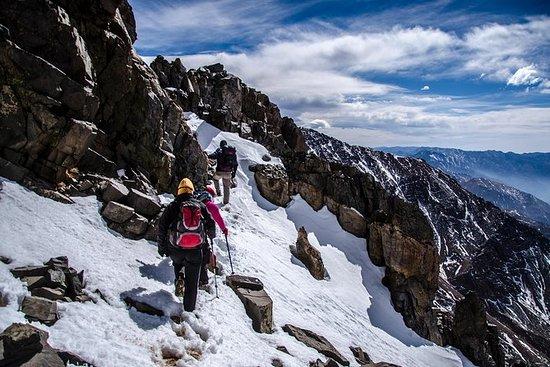 Journée de trekking dans les Andes...