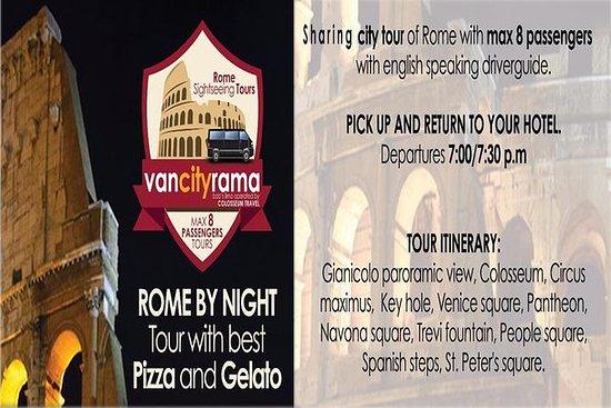 Panoramisk Rom om natten tour med...