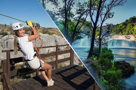 Zipline over Cikola canyon og Krka...