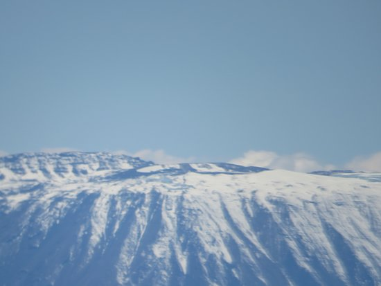 "Jambojet: Mount 'Kili"" from window"