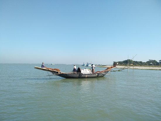 Fishing boat in the mighty river Meghna!