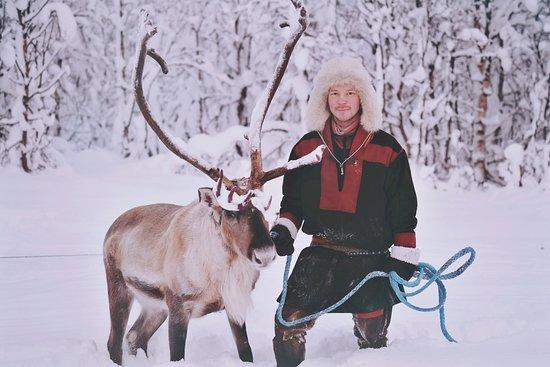 Meet our reindeer sled guide Johan