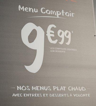 """Les différents menus de """"A la bonne heure"""""""