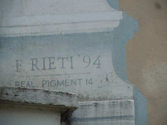 Fresque Le Jardin Suspendu: Signature du peintre