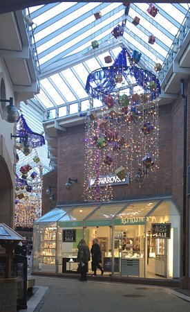 Carlisle, UK: The Festive Season has begun with christmas lights at The Lanes Shopping Centre.