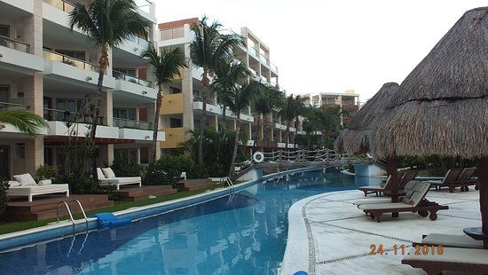 Excellence Playa Mujeres: Part of the lazy river which you can float around without having to swim.
