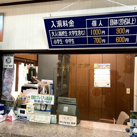 Furen Limestone Cavern: おっと 1000円もしたか! JAF割100円