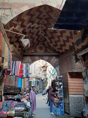 Beautiful architecture in Khan El khalili Bazaar in Cairo