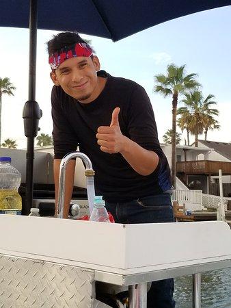 Ka Motion Sailing Adventure: Danny prepared food for trip