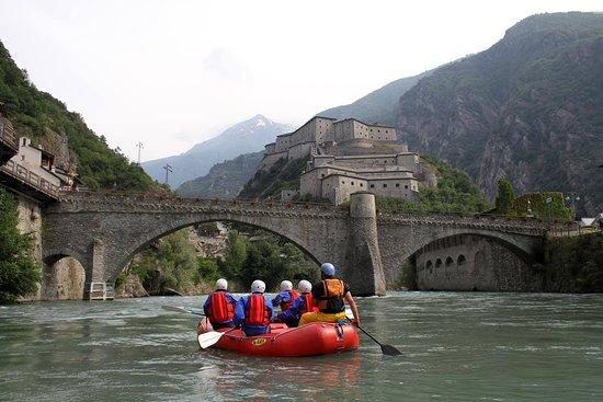 Rafting al Forte di Bard